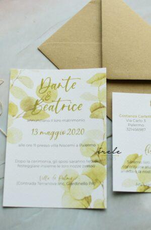 partecipazioni matrimonio eucalipto