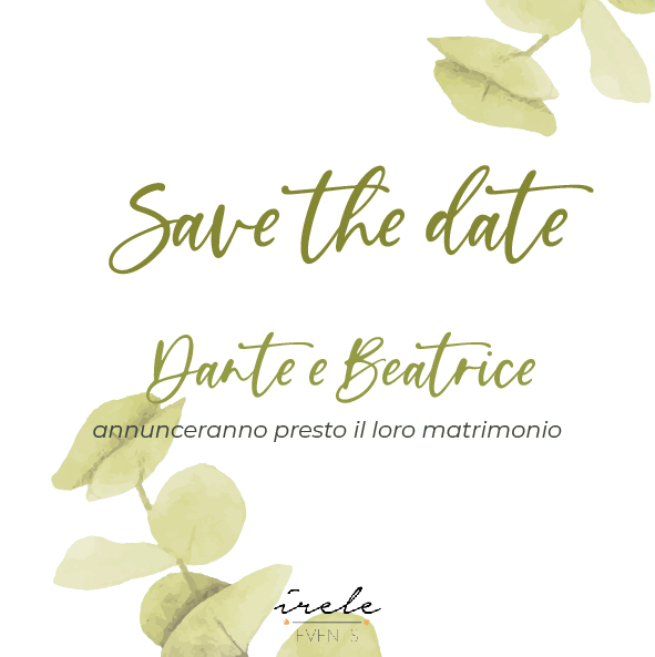 save the date digitale cartaceo