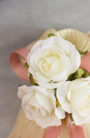 Bomboniere rose bianche