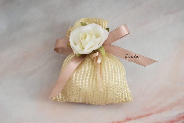 Bomboniere rosa bianca